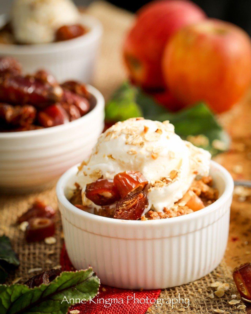 gluten free apple beet date crisp 3