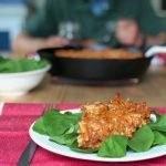 marinara roasted rotini with fresh spinach