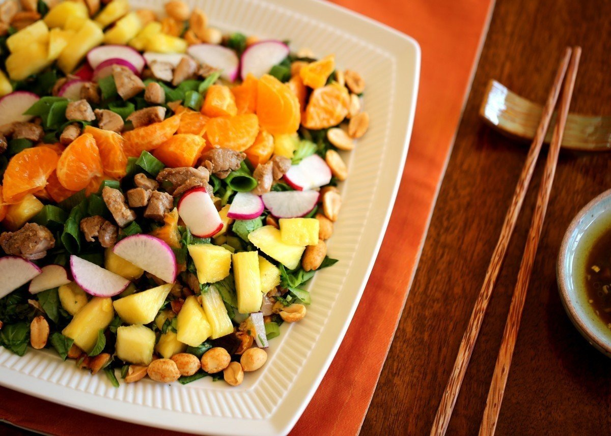 Chopped Salad with Asian Greens