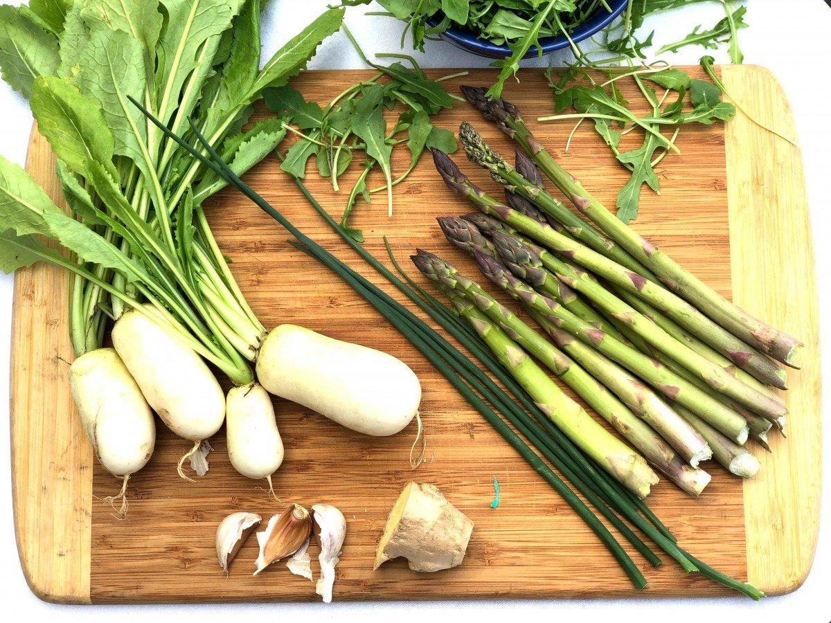 spring stir fry ingredients