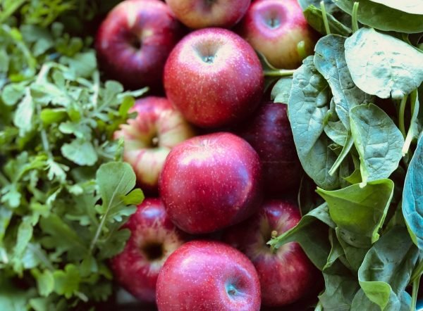 greens apples spinach