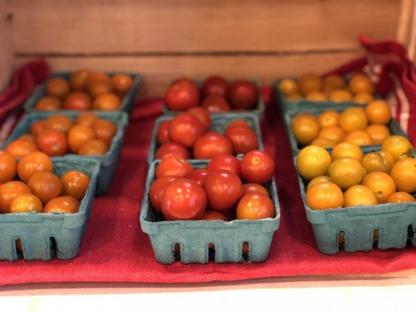 cherry tomatoes in farm stand