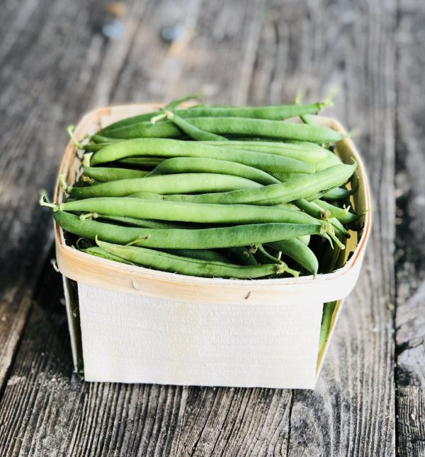 green beans in farm stand