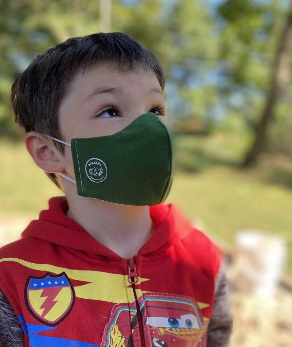 small kids mask green