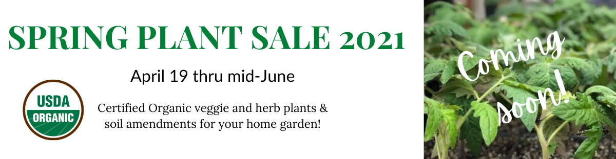 spring plant sale 2021 - coming soon