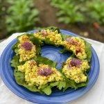 herbed egg salad lettuce boats