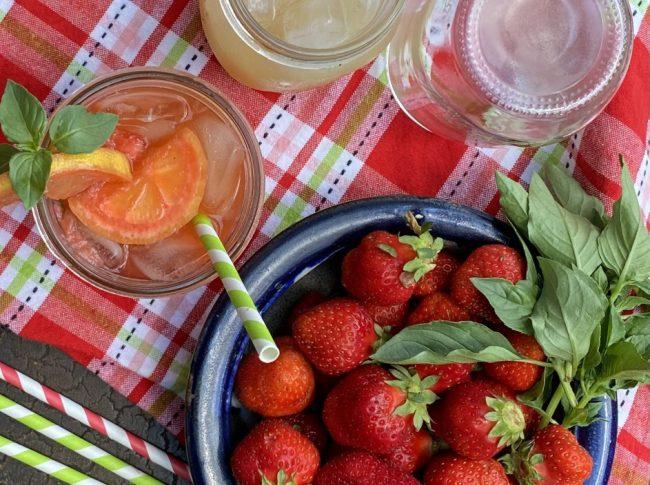 Strawberry Basil Lemonade