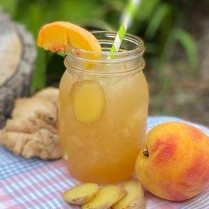 ginger peach lemonade
