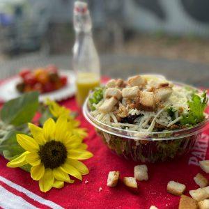 caesar salad with cherry tomatoes