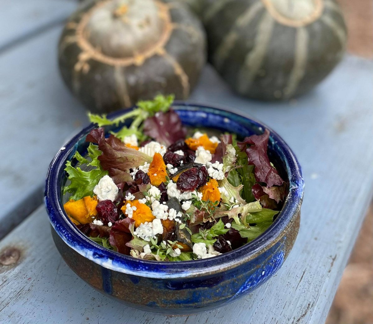 roasted buttercup squash salad