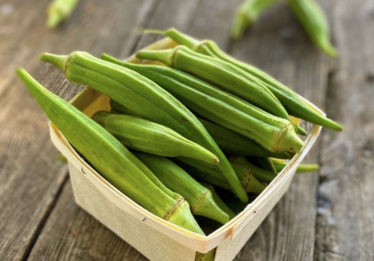 Okra in a Quart