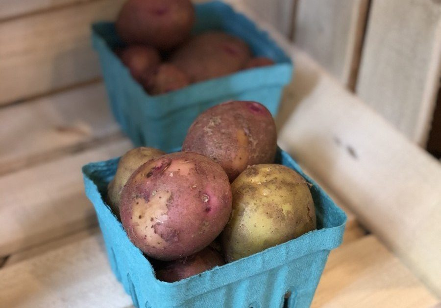 Potatoes in the farm stand